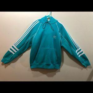 Adidas Hoodie, Aqua Blue, Medium